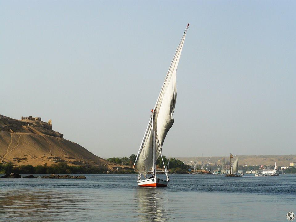 Falucas rio Nilo, Egipto