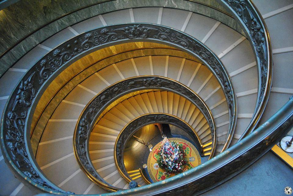 Escaleras helicoidales Museos Vaticanos, Roma