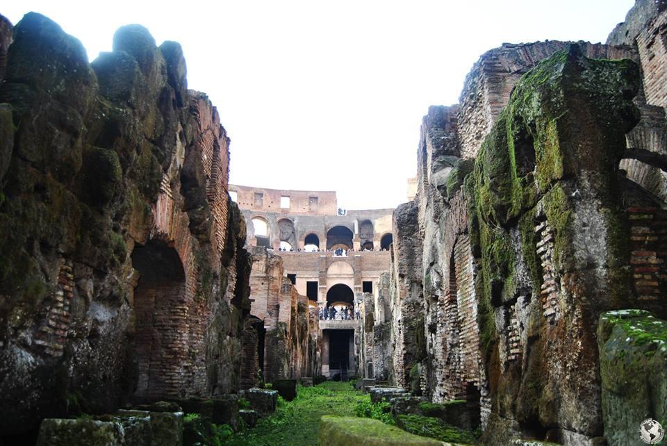 Subterráneos del Coliseo, Roma