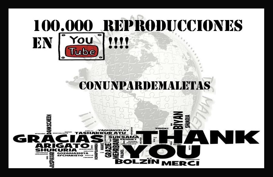 100.000 reproducciones en YouTube