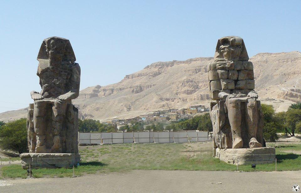 Los colosos de Memnón, Egipto
