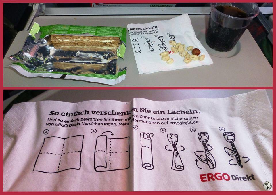 Servilletas Air Berlin