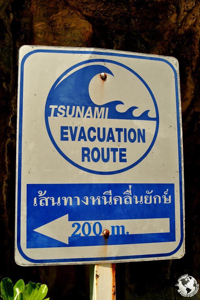 Rutas de evacuación de tsunami, Tailandia