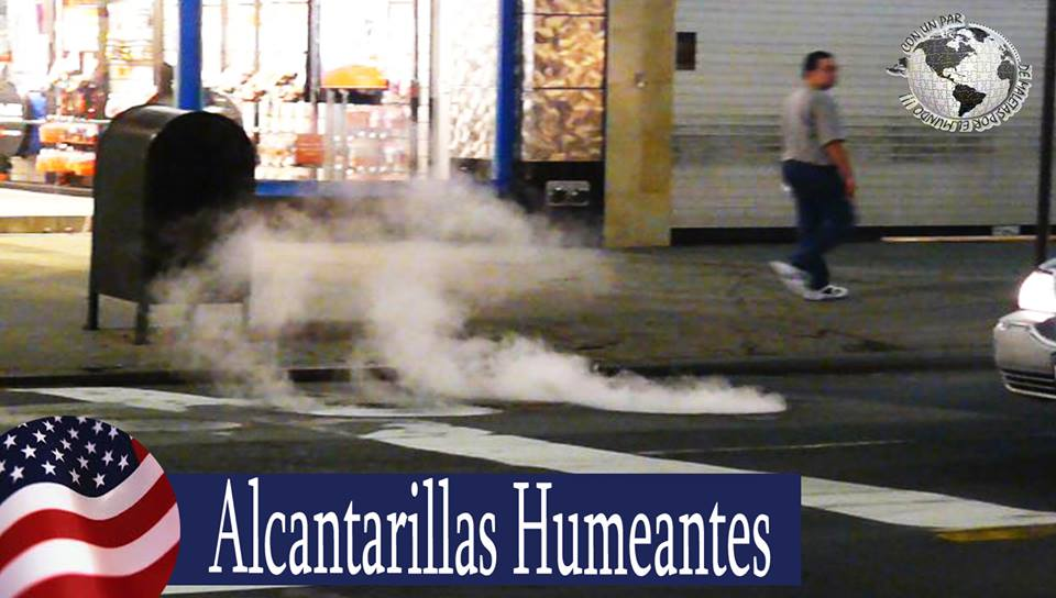 Alcantarillas humeantes, New York
