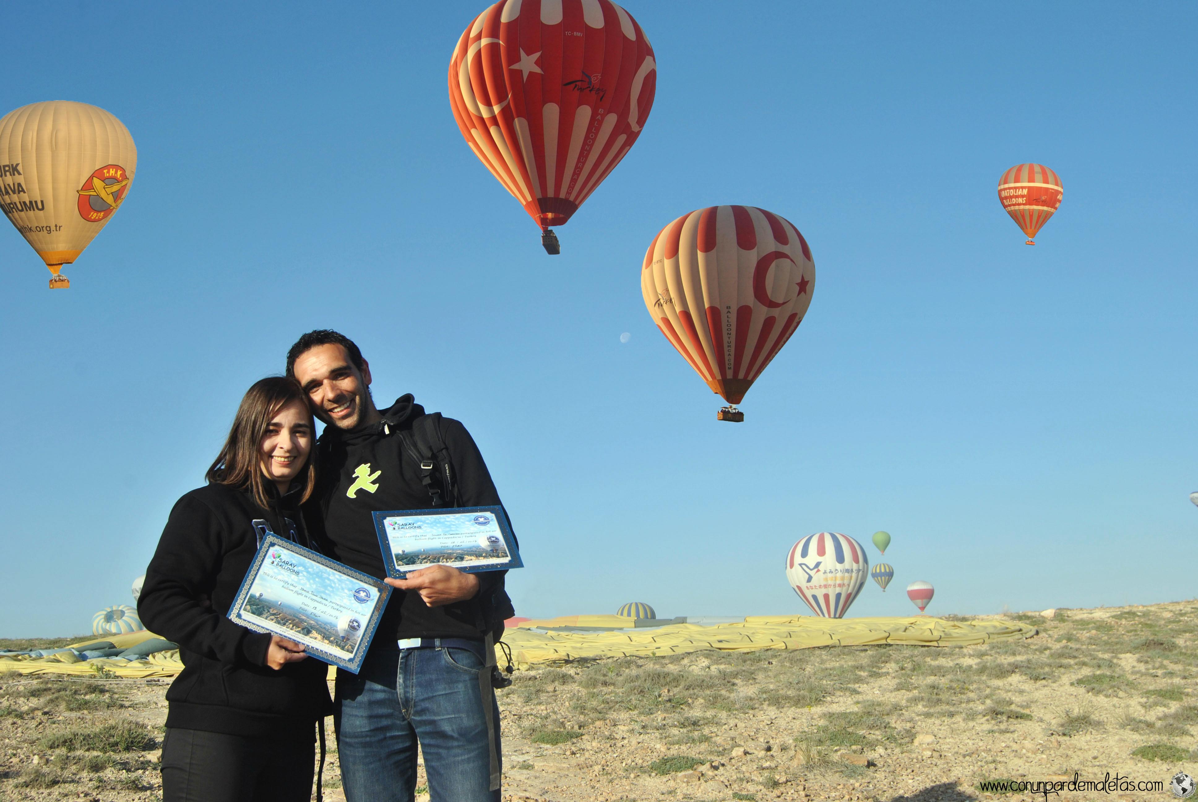 Volando en globo, Capadocia. Turquía