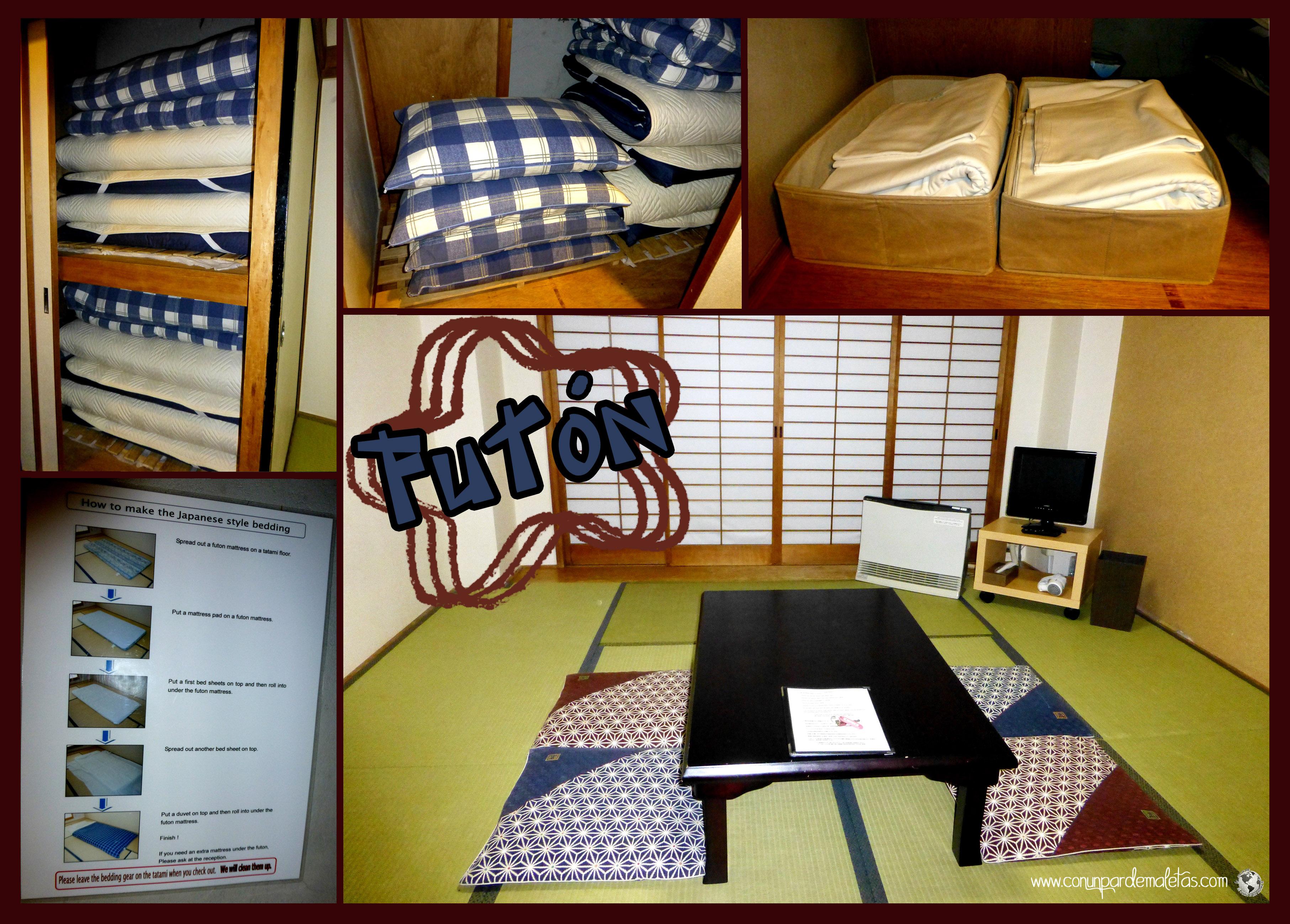 Futón, la manera tradicional de dormie en Japón