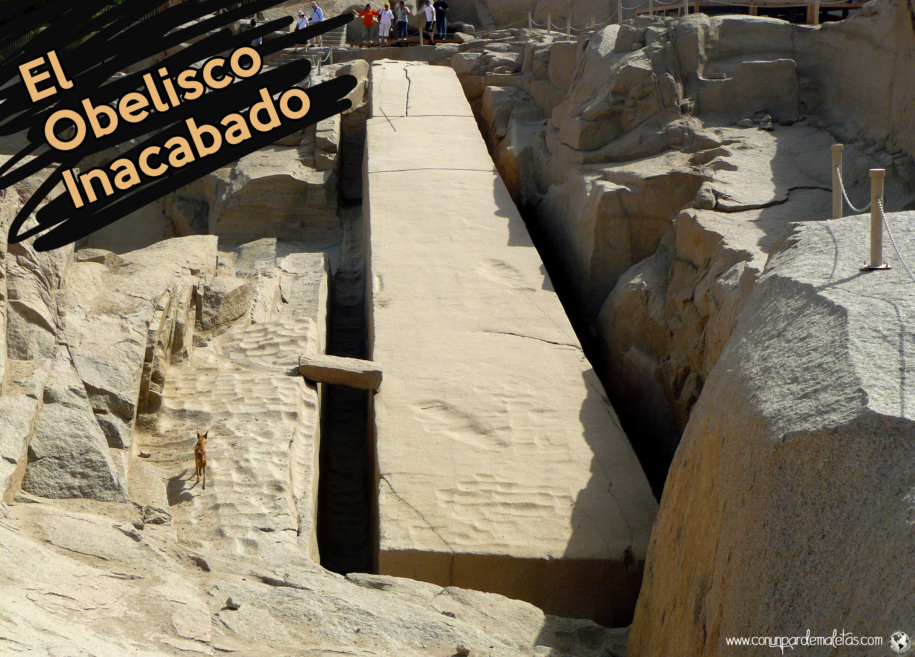 El Obelisco inacabado de Asuán, Egipto