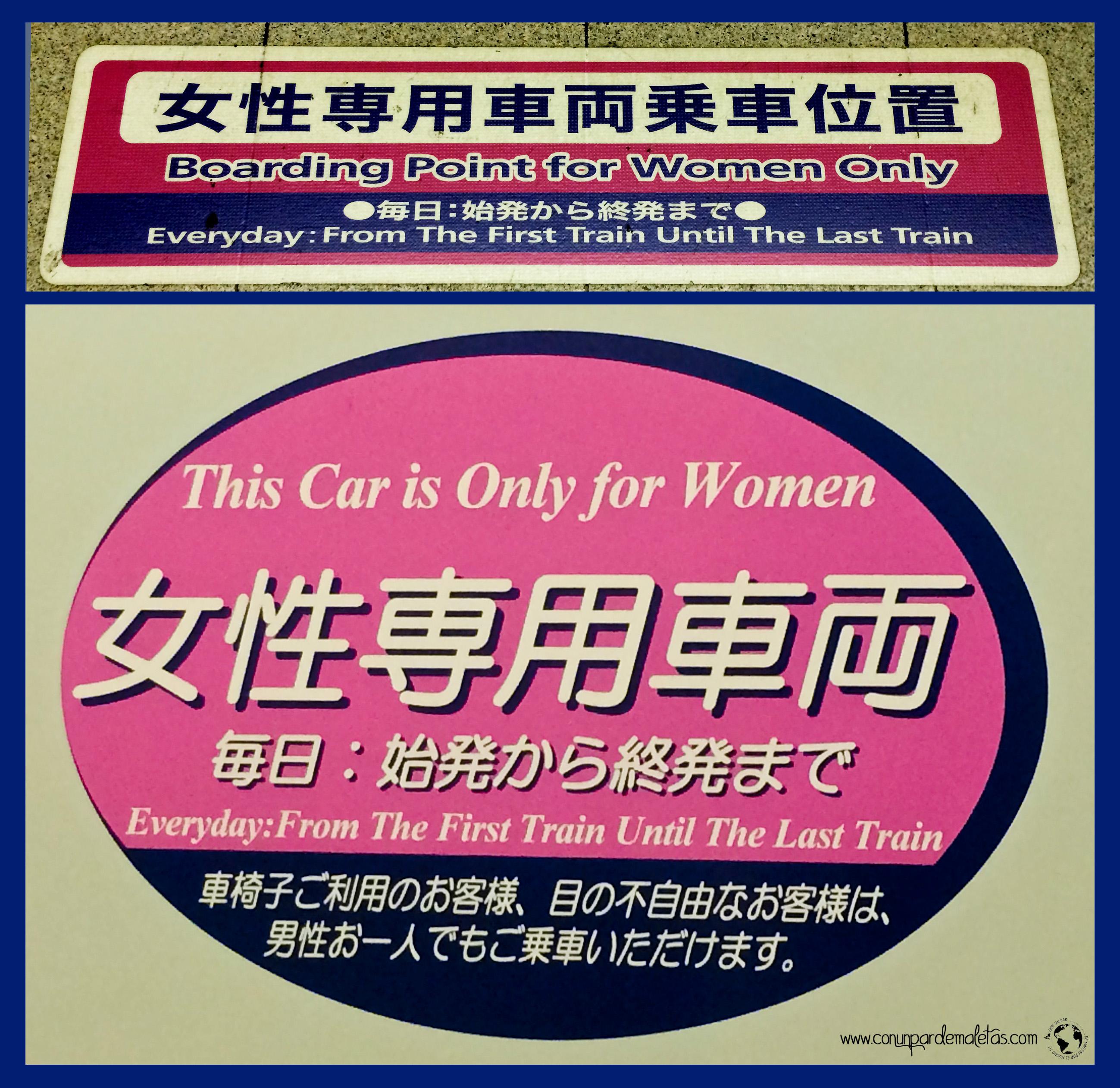 Alto!!! Solo Mujeres!!! Japón