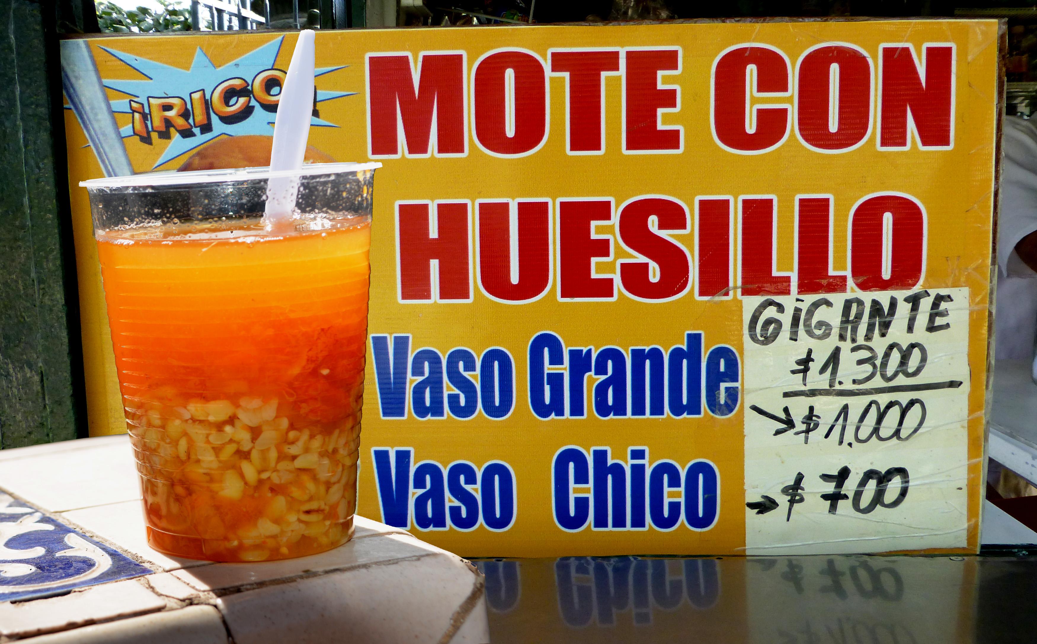 Mote con huesillo, Santiago de Chile