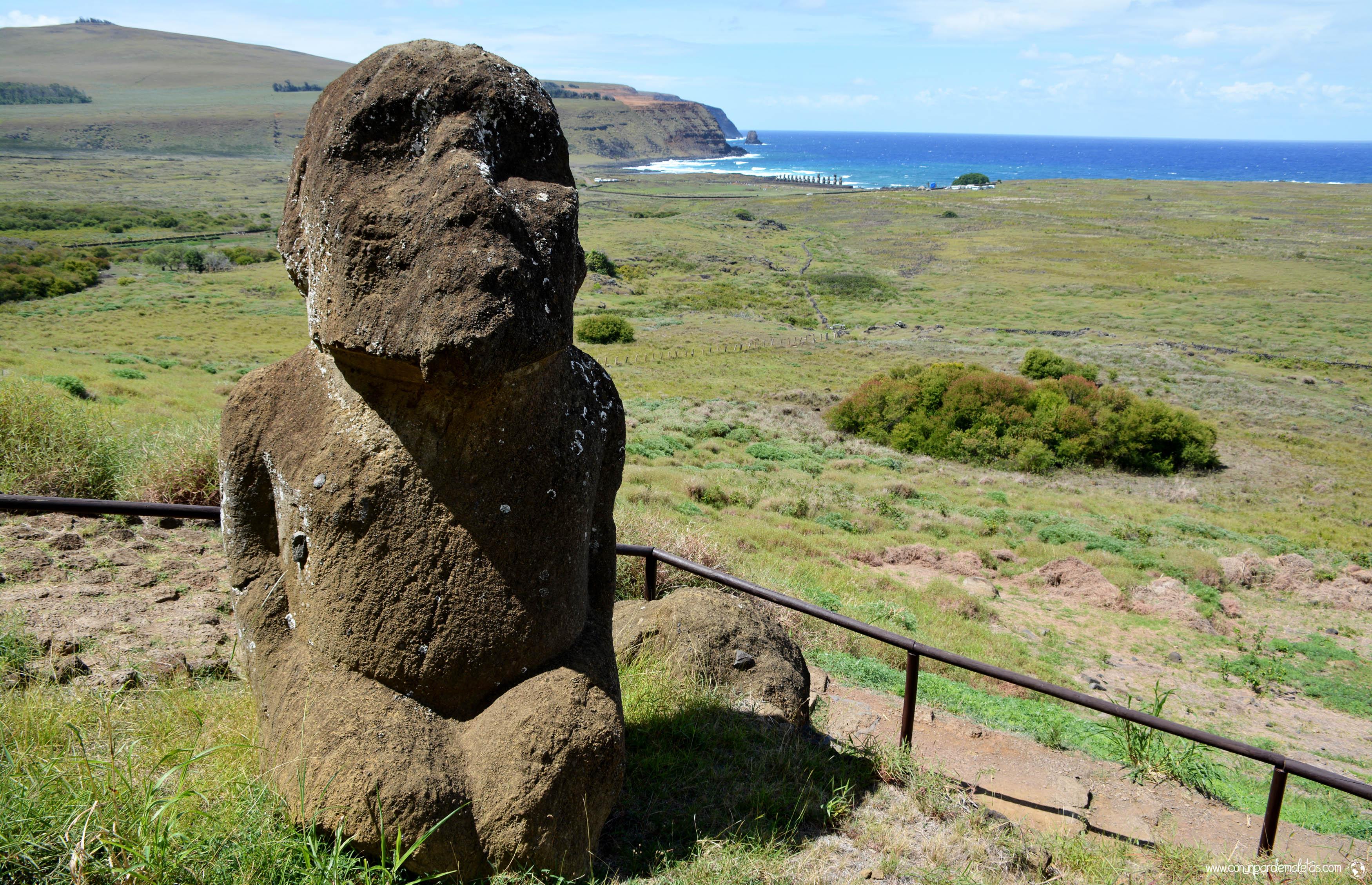 Moai Tukuturi, Isla de Pascua