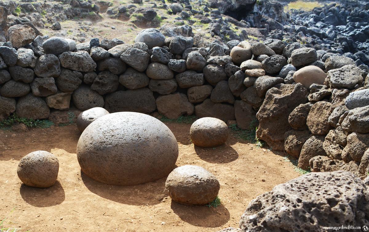 Piedra magnética, Isla de Pascua