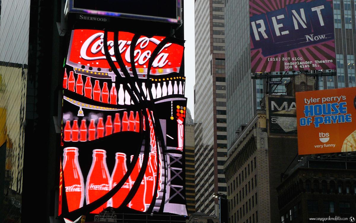 Cartel de CocaCola, New York