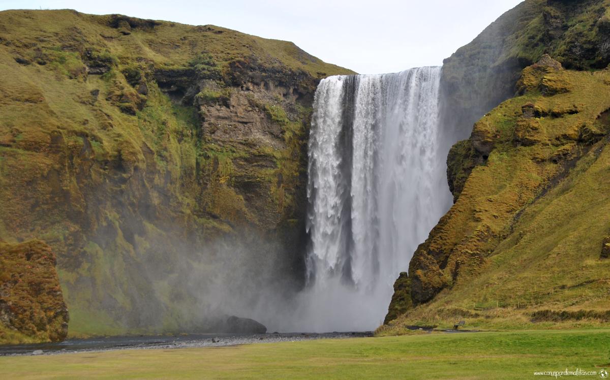Cascada Skógafoss, Islandia