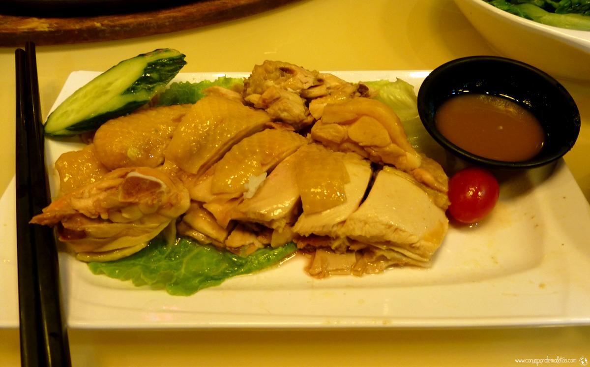 Arroz con pollo de Hainan, Singapur