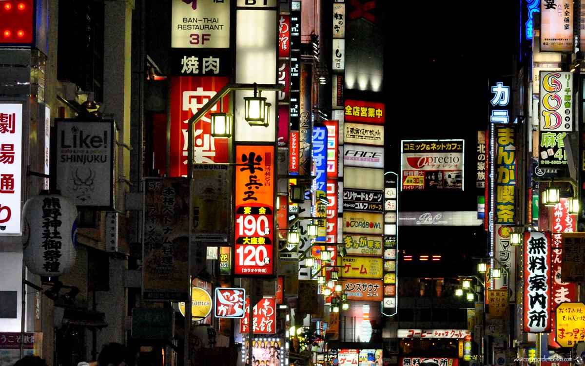 Kabukicho , el Barrio Rojo de Tokio. Japón