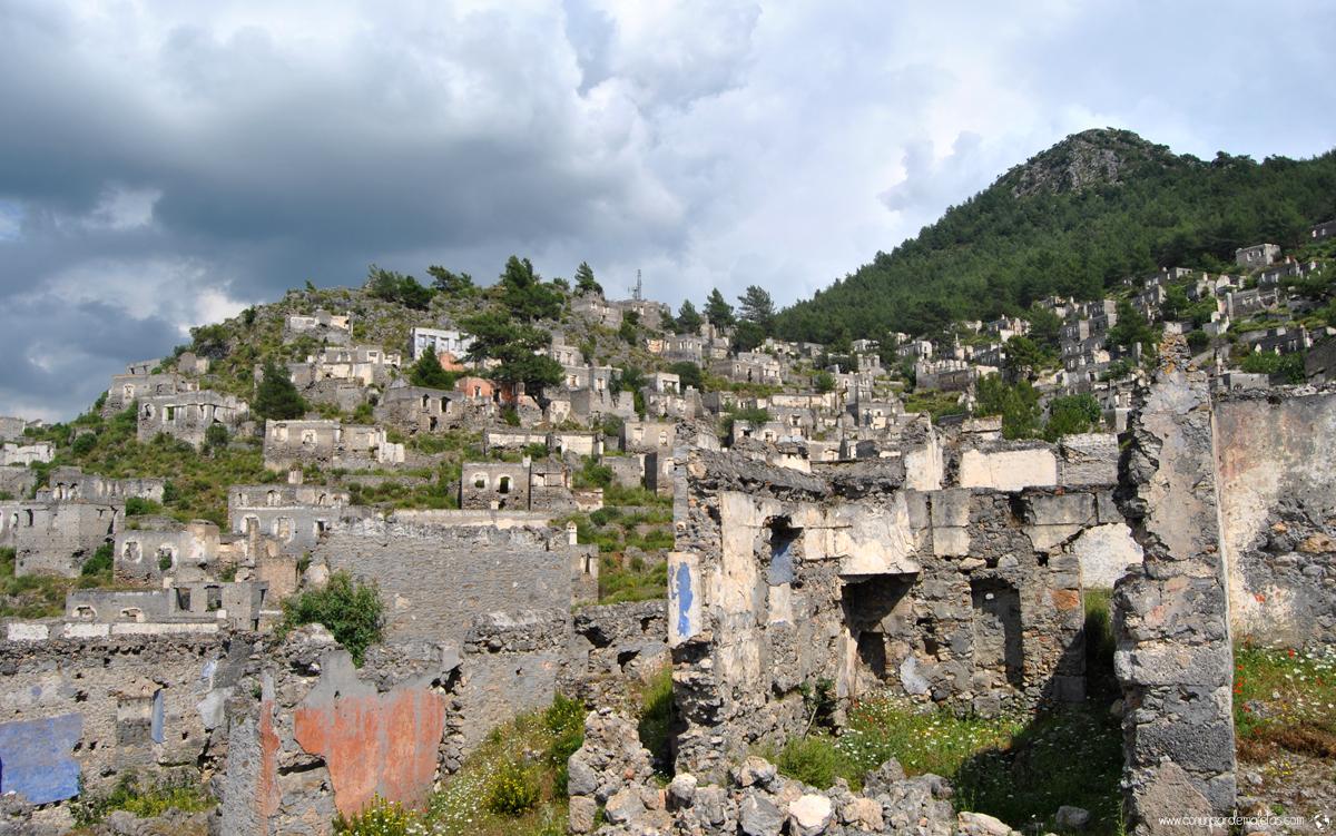El pueblo fantasma de Kayaköy, Turquía